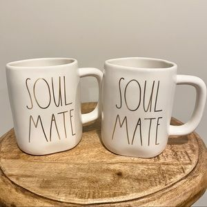 NWT Rae Dunn Soulmate Mugs (2) Valentine's Day